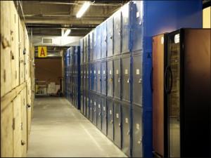 Lockers - Hall A - Portland Wine Storage