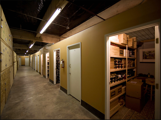 A look inside a walk-in unit - Portland Wine Storage